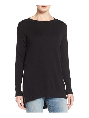 Caslon caslon zip back high/low tunic sweater
