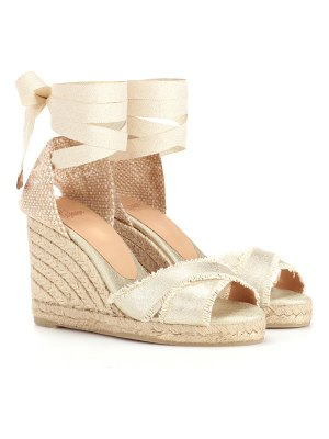 Castaner Ankle-tie espadrille wedge sandals