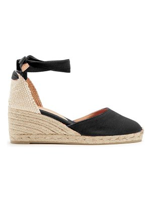 Castaner carina canvas ankle tie wedge espadrilles