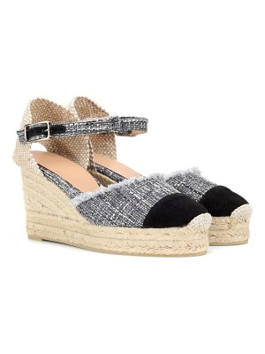 Castaner Casandra tweed wedge espadrilles