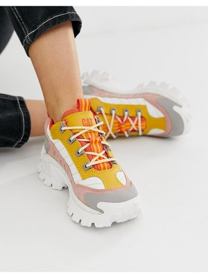 Cat Footwear cat intruder 2 sneakers in pink and yellow mix-multi