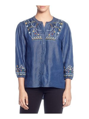 Catherine Catherine Malandrino embroidered chambray top