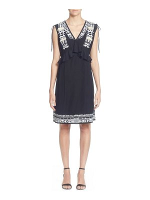 Catherine Catherine Malandrino fadilia embroidery cotton blend dress