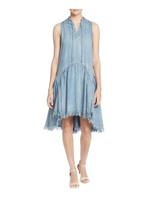 Catherine Catherine Malandrino keala dropwaist chambray dress