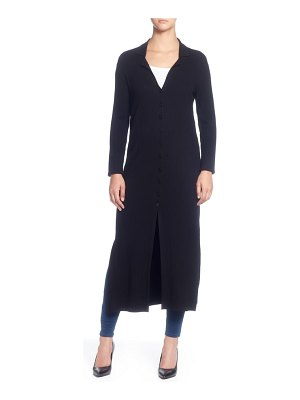 Catherine Catherine Malandrino rib knit long sleeve duster sweater
