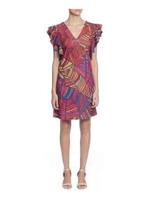 Catherine Catherine Malandrino sandrine colorful palm print dress