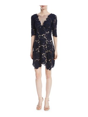 Catherine Deane Kaya Rose Lace Mini Cocktail Dress