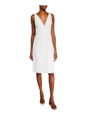 Catherine Deane Mateo V-Neck Sleeveless Cotton Lace Dress
