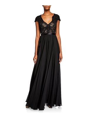 Catherine Deane Meike Beaded Silk Open-Back Gown
