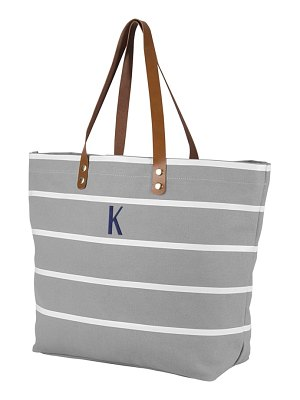 CATHY'S CONCEPTS monogram large canvas tote