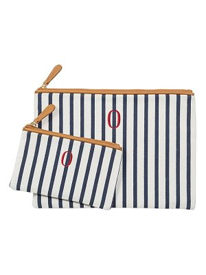 CATHY'S CONCEPTS set of 2 monogram canvas clutches