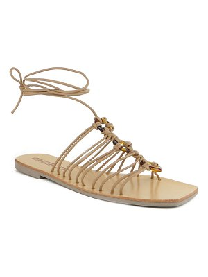 Caverley Ollie Tortoise Ring Caged Flat Sandals