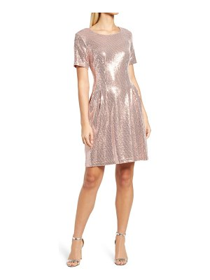 CAXLZ BY CONNECTED APPAREL kym sequin fit & flare cocktail dress