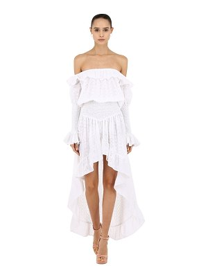 CC BY CAMILLA CAPPELLI Off-the-shoulder cotton lace dress