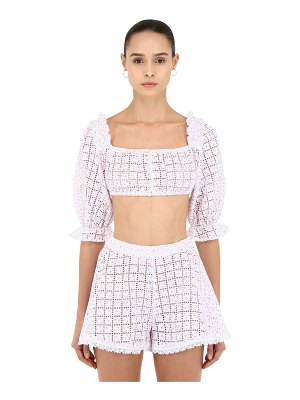 CC BY CAMILLA CAPPELLI Printed cotton lace crop top