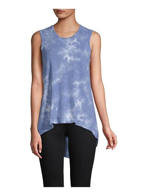 C&C California Tie-Dye Asymmetrical Cotton Tank Top