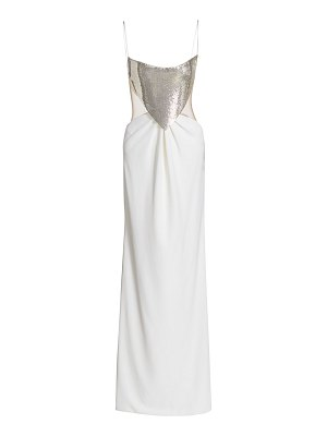 CDGNY BY CD GREENE chainmail cutout gown