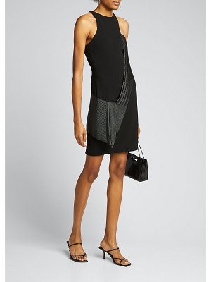 CDGNY Chainmail Jewel-Neck Cocktail Dress