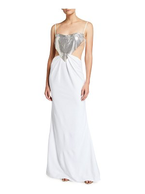 CDGNY Elsie Midriff Cutout Gown