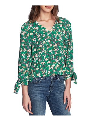 CeCe by Cynthia Steffe botanic charm floral tie sleeve blouse