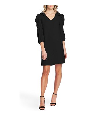 CeCe by Cynthia Steffe bow detail ruffle sleeve crepe dress