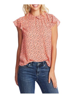 CeCe by Cynthia Steffe budding floral flutter sleeve top