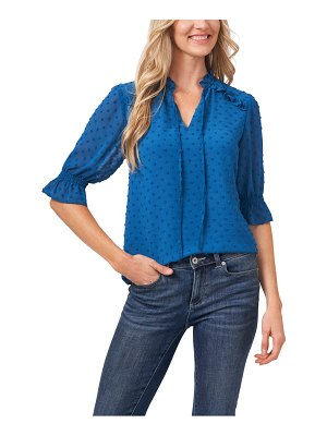 CeCe by Cynthia Steffe clip dot tie front top