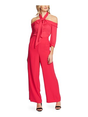 CeCe by Cynthia Steffe cold shoulder halter jumpsuit
