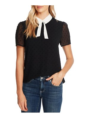 CeCe by Cynthia Steffe collared clip dot blouse