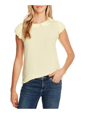 CeCe by Cynthia Steffe collared pleated cap sleeve blouse