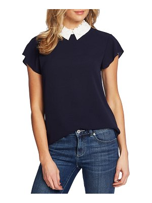 CeCe by Cynthia Steffe contrast collar top