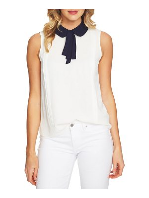 CeCe by Cynthia Steffe contrast tie collar blouse