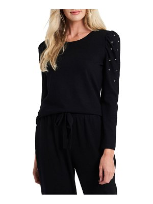 CeCe by Cynthia Steffe crystal puff sleeve top