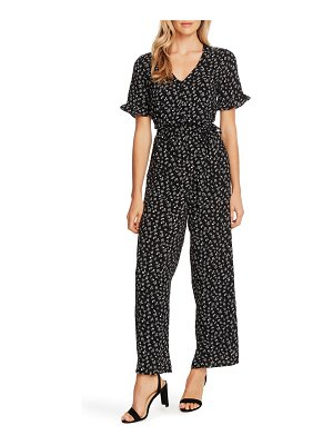 CeCe by Cynthia Steffe ditsy floral belted jumpsuit
