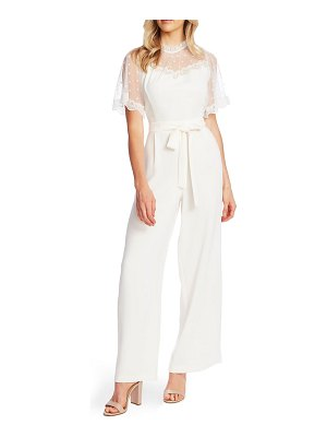 CeCe by Cynthia Steffe dotted lace detail jumpsuit