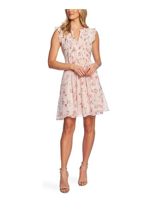 CeCe by Cynthia Steffe duchess floral print flutter sleeve dress