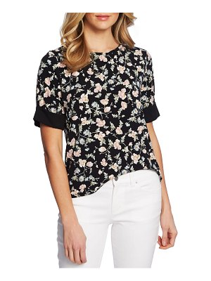 CeCe by Cynthia Steffe duchess floral double bow back top