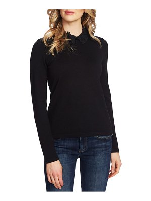CeCe by Cynthia Steffe embellished collar sweater