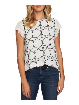 CeCe by Cynthia Steffe embroidered woven top