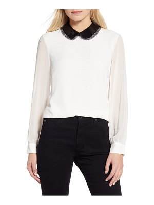 CeCe by Cynthia Steffe sequin collar blouse