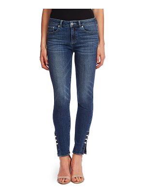 CeCe by Cynthia Steffe faux pearl detail skinny jeans