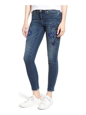 CeCe by Cynthia Steffe floral embroidered skinny jeans