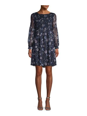 CeCe by Cynthia Steffe Floral Smocked Dress