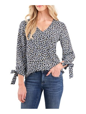 CeCe by Cynthia Steffe floral tie sleeve blouse