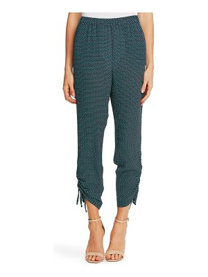CeCe by Cynthia Steffe geo print ruched ankle pants