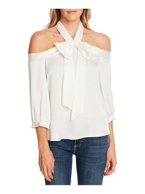 CeCe by Cynthia Steffe off the shoulder halter blouse
