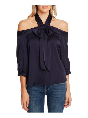 CeCe by Cynthia Steffe halter neck cold shoulder blouse