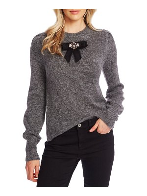 CeCe by Cynthia Steffe jeweled bow detail sweater