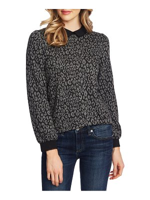CeCe by Cynthia Steffe leopard print collared blouse