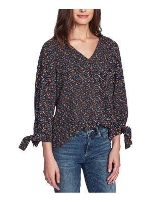 CeCe by Cynthia Steffe moroccan ditsy floral tie sleeve top